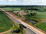 Work on the Newell hwy in progress with some overtaking lanes now open