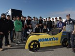 Komatsu apprentices take on V8 Supercars elite