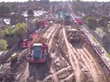 Melbourne level crossing removal timelapse