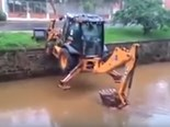 Unbelievable backhoe skills