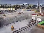 Video: Sydney Metro Northwest Bella Vista timelapse