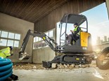 The Volvo EC18D is the smallest of Volvo's European compact excavators heading to Oz