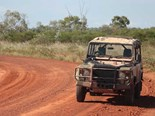 A squirt in the dirt and the Land Rover Perentie was as much at home as its Outback lizard namesake