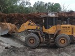 The SDLG LG959 wheel loader hard at work