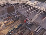 Video: Aerial drone construction footage