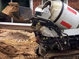 Cormidi C85 mini tracked dumper with self loading concrete mixer