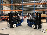Toyota hydrogen fuel cell powered forklifts