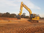 Queensland's first automatic Komatsu excavator