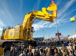 The world's largest trade fair for construction and earthmoving machinery opened its doors in Munich yesterday.