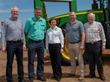 (L-R) RD Offutt Co CEO Tim Curoe; Vandersee CEO Bruce Vandersee; incoming RDO Australia Group CEO Julie Whitcombe; RD Offutt Co executive vice-president Ryan Offutt; and founder of RD Offutt Co Ron Offutt