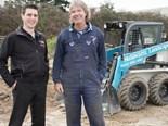 TMHA area sales manager Thomas Machar (left) with Mallawarra Landscapes owner Robin Cousins