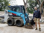 Melbourne Zoo's new Toyota Huski 5SDK8 skid steer
