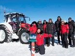 After 17 days of driving in a Massey Ferguson MF 5610 tractor on ice and snow, the Antarctica2 expedition team has finally arrived in the South Pole.