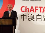 Minister for Trade and Investment Andrew Robb speaking at a ChAFTA Business Forum in Beijing back in August 2015.