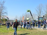 About 450 people attended the Lardner Park Hay and Silage Demonstration Day.
