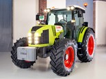 Life-sized Claas Lego tractor built in France