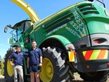 John Deere 8500i forage harvester in NZ
