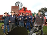Members of the Henty and District Antique Farm Machinery Club
