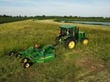 The new John Deere E12 Rotary Cutter features a 56 kW gearbox and Category 4 driveline.
