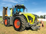 Like most 490hp tractors, the Claas Xerion is an imposing beast