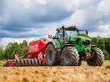 Deutz-Fahr's new 287hp tractor has a top speed of 60km/h.
