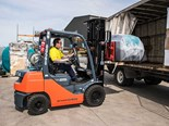 Rapid Spray's Toyota 8-Series LPG counterbalance forklift
