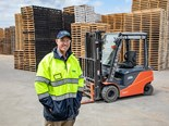 Recylcing guru charges ahead with Toyota electric forklifts