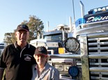 Partners in trucking and in life: Ross and Maureen Smith.