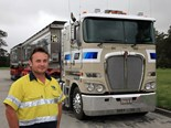 Jim Turner has driven TRN Group's Kenworth K200 since new.