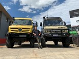 MIGHTY MACHINES: Food delivery driving in a UNIMOG!