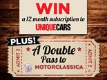WIN a 12-month subscription to Unique Cars and a double pass to Motorcla