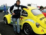 Torrens and one of his Beetles - is it a sports car or a classic or both or neither?!