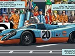 "Steve McQueen ""Le Mans"" Graphic Novel by Sandro Garbo"