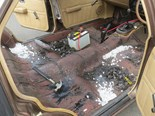 VC Commodore Dry Ice Sound Deadening Removal