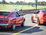 A big roll-up and happy faces at the Mustang Motorsport track day.