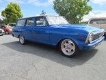 Chevy Nova II wagon with LS V8 at auction