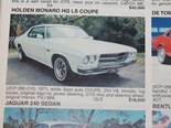 HOLDEN HQ MONARO + RENAULT 12 GORDINI - The cars that got away