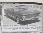 Plymouth Valiant signet + HT Monaro + Datsun 1600 - Cars That Got Away 404