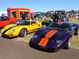 These GT40s added some welcome colour to the event.