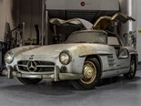 Barn Find: Two Mercedes-Benz Gullwings displayed at Amelia Island