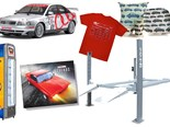 RC Audi A4 + 4-post hoists + SM Legends book + Shed Fridge - Gearbox 431