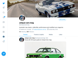 Unique Cars mag on Twitter