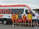 The new BRIDJ Ride'n'Slide on-demand bus service can get customers to and from Sydney's Wet'n'Wild theme park. You've got to bring your own flippers and goggles, though.