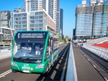 Two Optare Solo demonstrator buses – a 7.9m and a 9.9m unit - have been used on the route (Photo: www.homebushbaybridge.com.au)