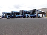 Volgren wins BusNSW 2018 Supplier of the year Award. Pictured: four Volgren Optimus buses to be delivered to NSW.