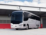 Nothing less than the 83rd vehicle that Coach Design has exported to New Zealand – the 15th coach for Kiwi operator Bayes - but this one's a 'wide-bodied' Alpine.