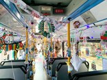 The Christmas-decorated buses won't be on a designated route, but will operate any of the services out of the Tempe depot, says Transit Systems.