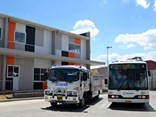 For National Volunteers Week, and paying tribute to the SES, Busways bus drivers, workshop staff and support office staff dressed up in orange to say thanks to them, the company states..