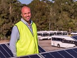 Busways sustainable projects lead Tim Reid at Busways' Gosford, NSW, depot.