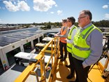 At Transdev's Capalaba depot, in Brisbane, 250 solar panels have been installed as part of the company's 'fully sustainable' solar power harvesting/bus powering plan.